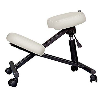 Kendan Marsden White - Orthopedic Ergonomic Knee Stool Kneeling Posture Chair for Computer Office Spa Manicure Swivel Reiki Therapy Massage Tattoo Cosmetic Beauty Salon etc
