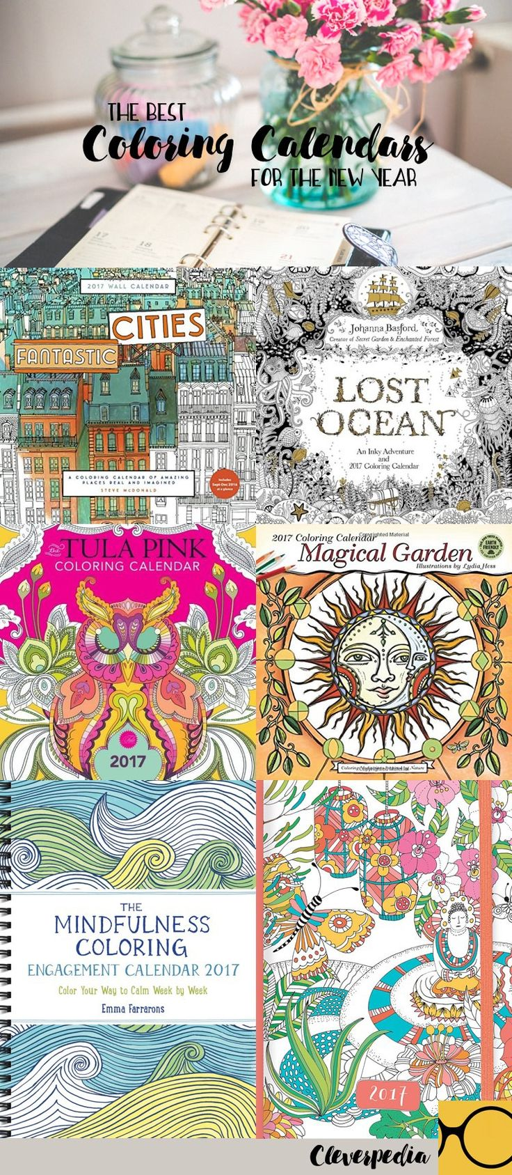 the best adult coloring calendars for 2017