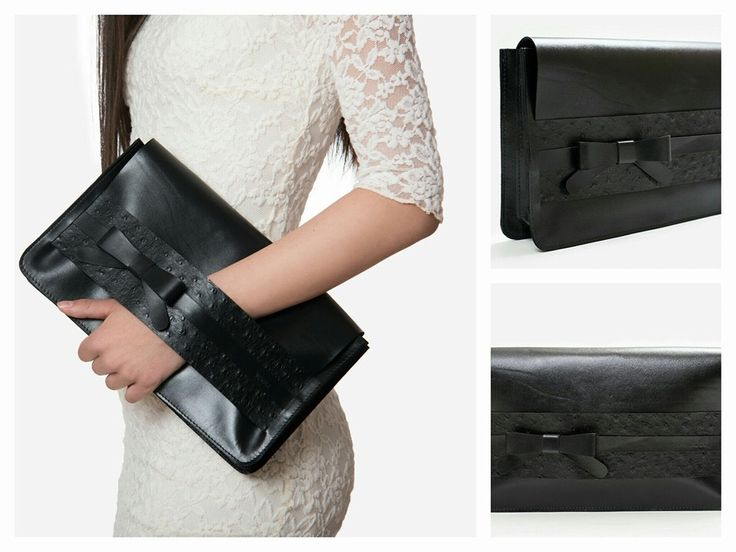 """Cannes"" leather clutch"