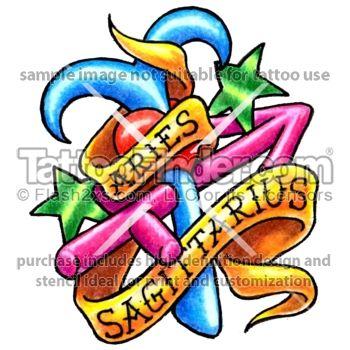 TattooFinder.com: Aries and Sagittarius tattoo design by ...