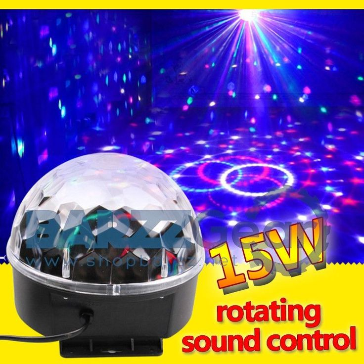 Crystal Magic Ball Auto Sound RGB Stage Effect Laser Light Show DJ Party