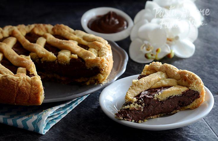 Crostata con frolla allo strutto e Nutella morbida