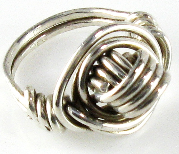 Sterling Silver Love Knot Ring -   Handmade sterling silver wire wrapped ring for Lovers.  Specify ring size.  Also available in gold filled.
