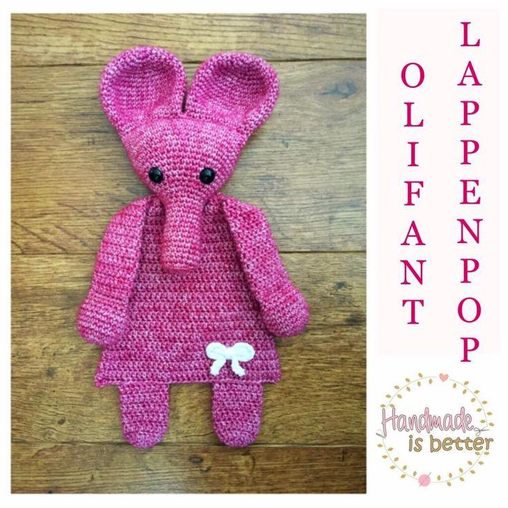 """Lappenpop uit het boek """"Gehaakte lappenpoppen"""" a la Sascha. Gemaakt door Chantal P."""