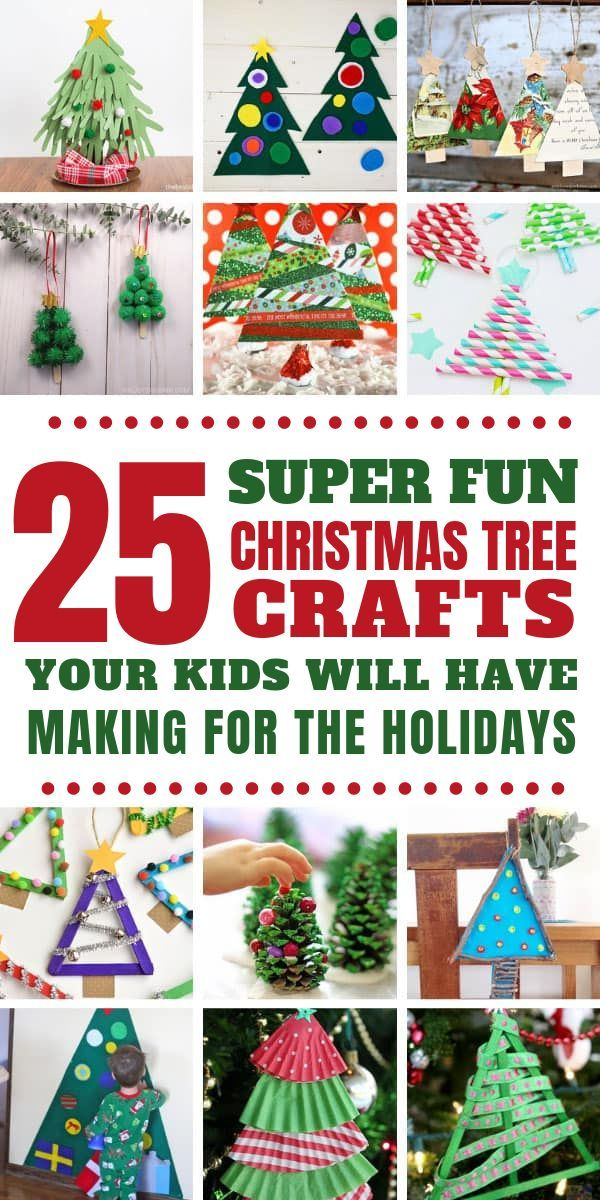 25 Easy Christmas Tree Crafts For Kids That Make Fabulous Holiday Decor Christmas Tree Crafts Tree Crafts Christmas Crafts For Kids