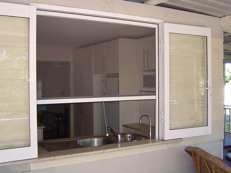 Flat mesh retractable insect screen uPVC or aluminium frame 300x225 ...