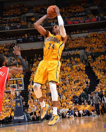 2014 NBA Playoffs Game 7: May 3, Atlanta Hawks vs Indiana Pacers - Paul George