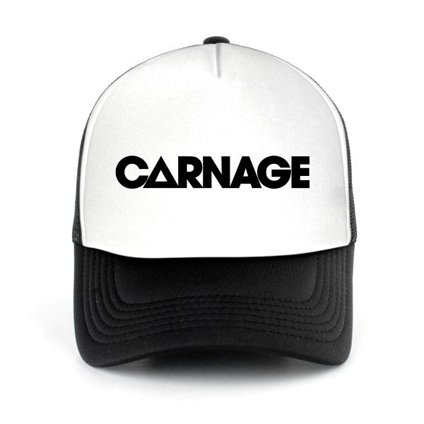 Trucker Hat Carnage, DJ Mesh Cap. Shop for more DJ Trucker Hat and DJ Mesh Cap at DJTSHIRT.WEBSITE Get 35% off discount for new customers.