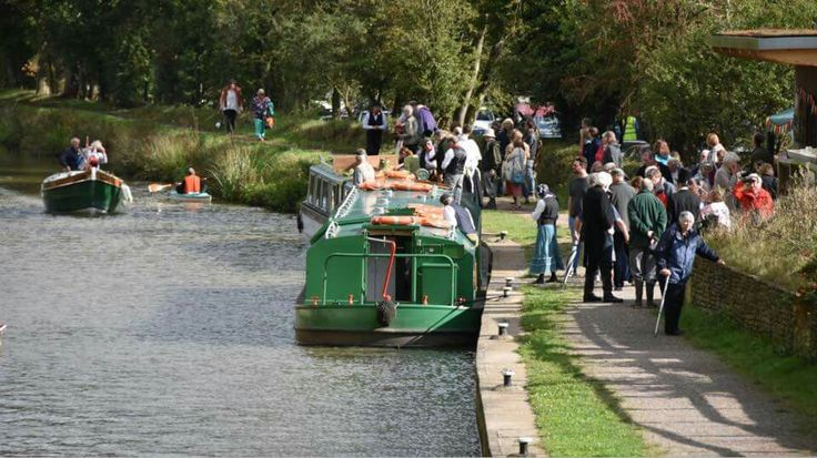 Wey and Arun Canal bicentenary celebrations at Loxwood, West Sussex.