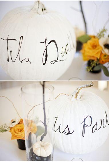 White Pumpkin Decoration   CRAZY ABOUT WEDDINGS