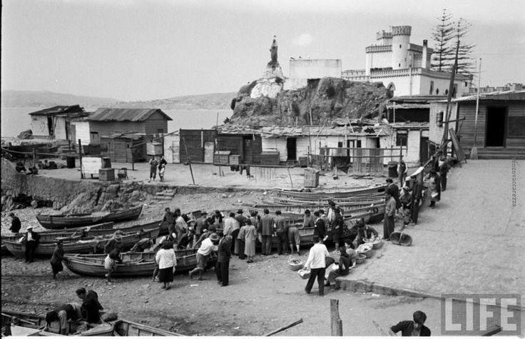 Caleta  El Membrillo, Valparaíso, 1950