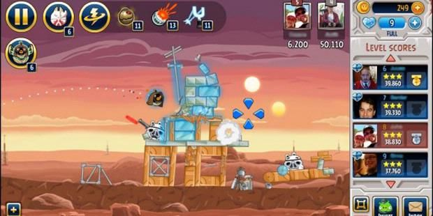 Angry Birds Star Wars Present On Facebook