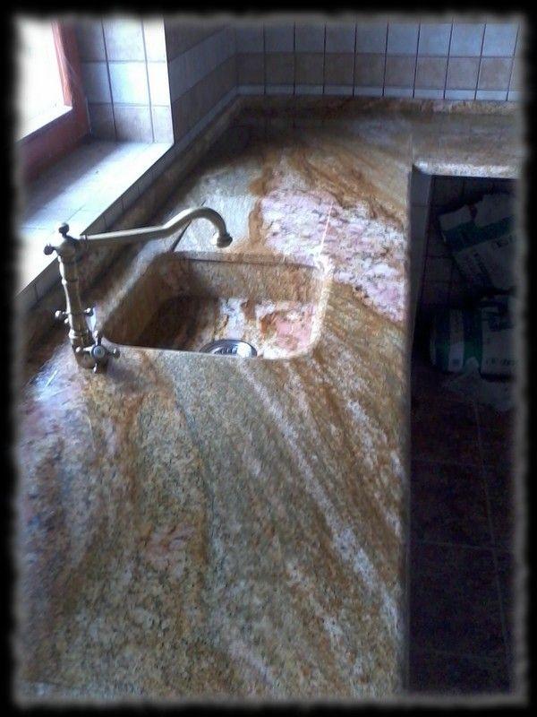 Épületmunkák - konyhapult gránit mosogatóval
