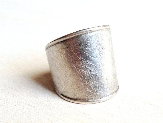 Bold sterling silver ring Chunky silver ring by CopperSpineStudio