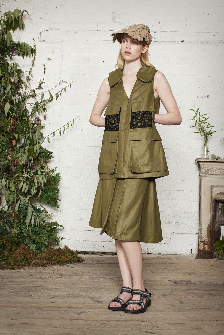 #fashion #green #textile #nature #waistcoat #skirt