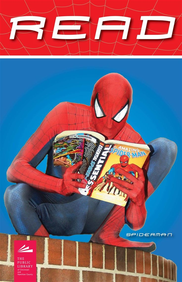 Spiderman knows that reading is a super power  | The Public Library of Cincinnati and Hamilton County