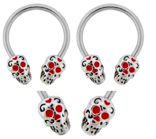 184 best images about piercings on pinterest for Day of the dead body jewelry