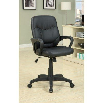 with a comfortable padded leatherette seat adjustable height and easy swivel wheels this office chair provides luxurious comfort while working