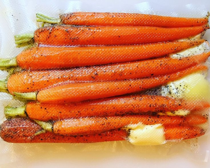 Cooking carrots in their own juices and aromatics is the BEST way to enjoy them! Sous vide carrots are quick and easy to make.