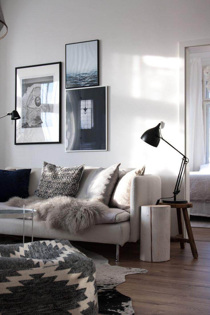 Zuiver Reader lamp, Ikea Soderhamn sofa.