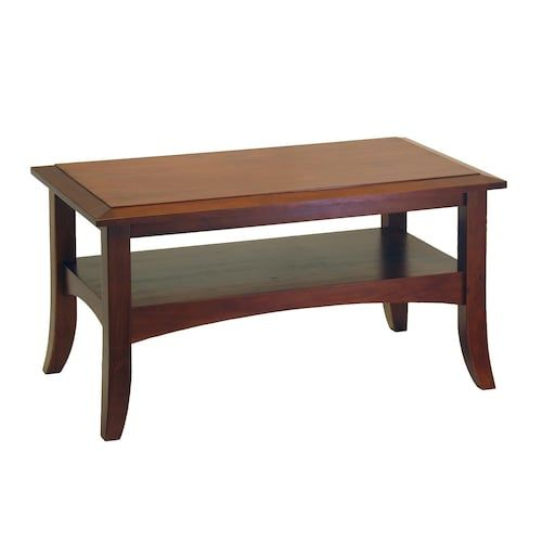 Winsome Wood 94234 Craftsman Coffee Table, Antique Walnut  Height:18¼ inches  Length:34 inches  Width:19 inches  Weight:23lbs