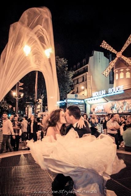 One of my favourite wedding images. I took this in front or The Moulin Rouge in Paris. #wedding #photography #paris