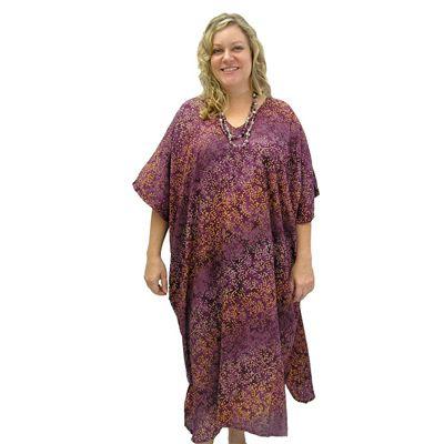 Sundrenched Long Kaftan Jungle: Purple - $35.00 #kaftans #summerclothes #plussize