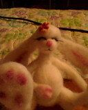 Little Needle felted  Bunny ate too many jelly by Faesbyjulest, $49.00