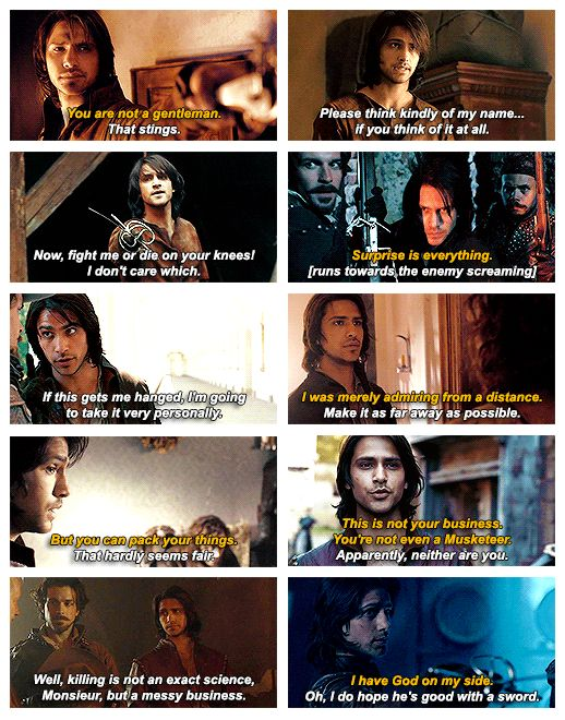 The Musketeers - Quotable d'Artagnan