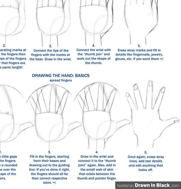 How to draw hands 35 tutorials how to step by steps videos