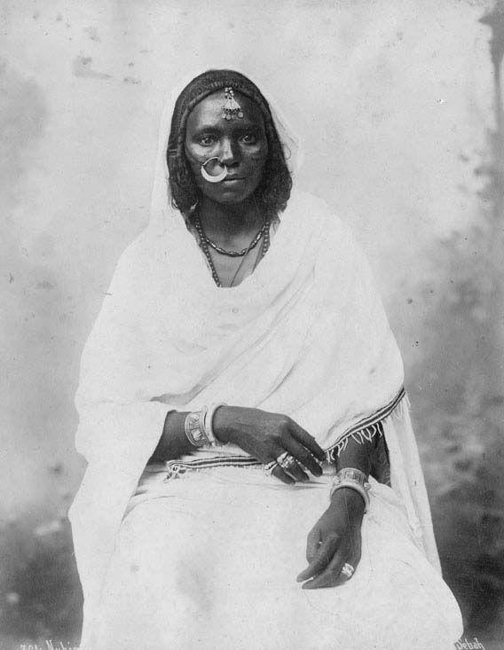 Africa | Portrait of a Nubian woman. Egypt. ca. 1875. © Pascal Sebah.