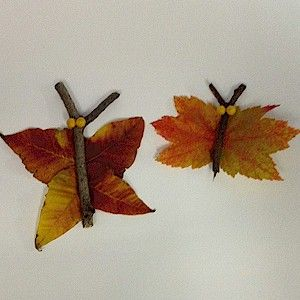 Make Butterflies From Leaves Craft