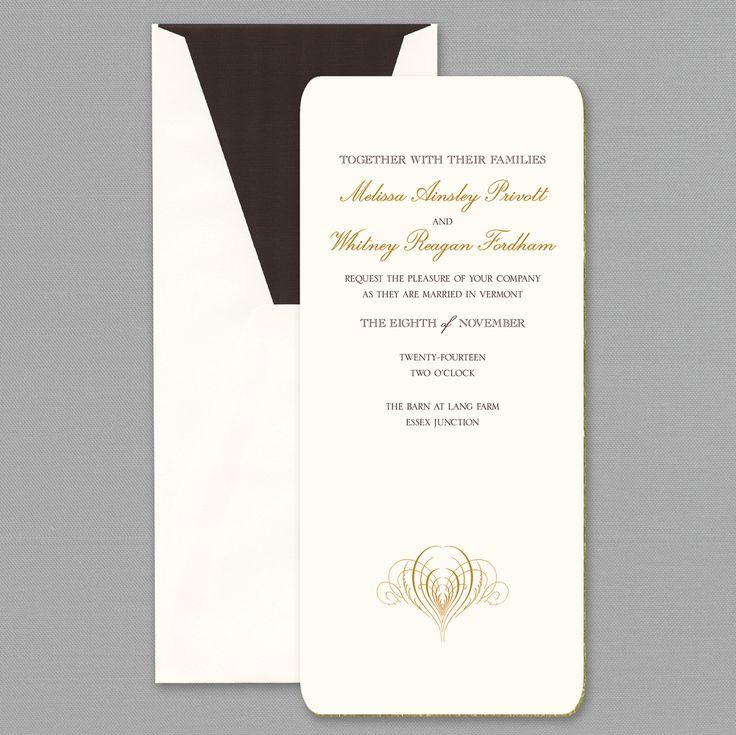sample wedding invitation letter for uk visa%0A Gilt Edge Round Cornered  u     Wedding Invitation  u     Custom Wedding  Bar Mitzvah  and Bat Mitzvah Invitations