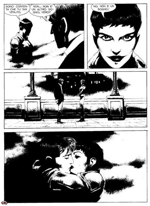 "Corrado Roi - Dylan Dog I'm guessing this is from ""Manila"" oh the inky goodness."