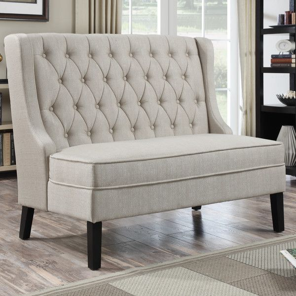 banquette idea for dining area // Banquette Tufted Settee