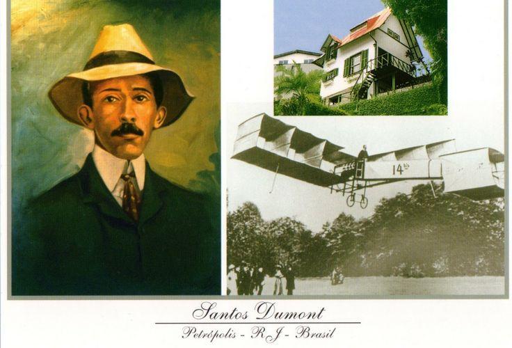 """Santos Dumond, o inventor da avião. e o """"14 bis"""" o primeiro avião"""