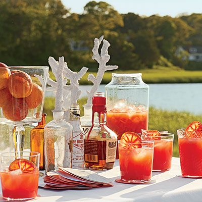 Blood Orange Bourbon Coolers
