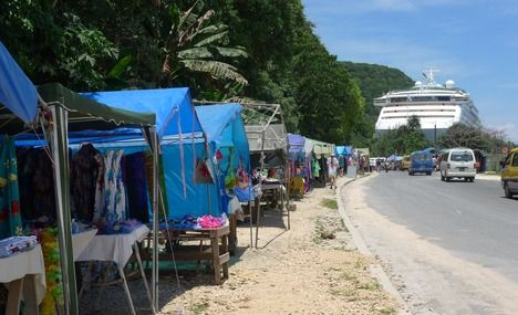 Port Vila. Love walking the km back to the ship looking at all the stalls