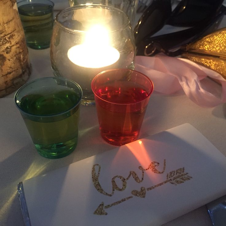 Love shots weddings candle table decorations