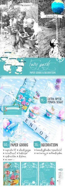 #feest #pakket #Fairy Party,   een compleet pakket om zelf een uniek #kinderfeestje te organiseren