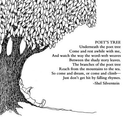 """I like that the """"poet tree"""" is almost like a light bulb - ideas basically falling from it."""