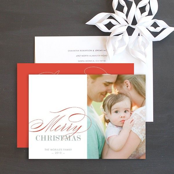 Simply Elegant Holiday Photo Cards by Ringleader Paper Co. | Elli