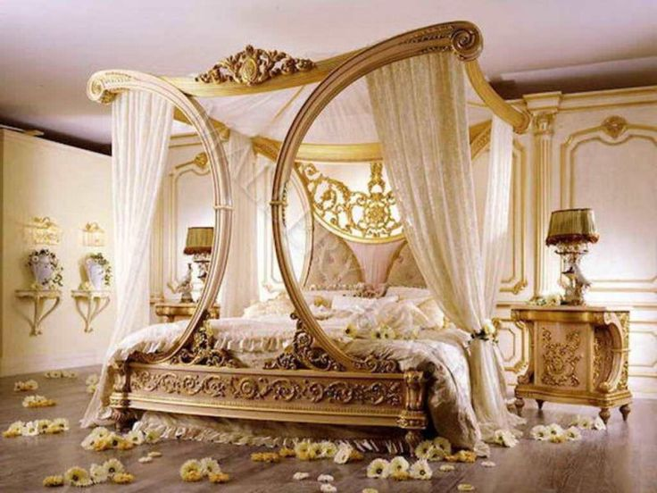 High End Traditional Bedroom Furniture With Canopy Beautiful Romantic  Classic Design Exotic Hardwood Laminate Flooring Best