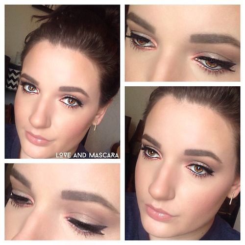 Neutral Cool Toned Smokey Eye with a Pop of Color
