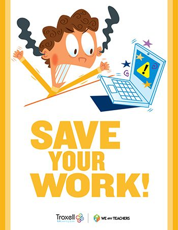 Save Your Work Poster