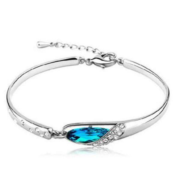 Silver Plated Dolphin Bangle Bracelet