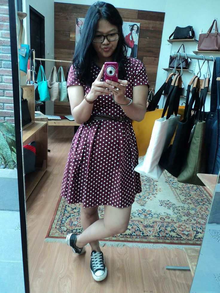 Dress by Luna Maya for Hardware, sneakers, and eyeglasses~