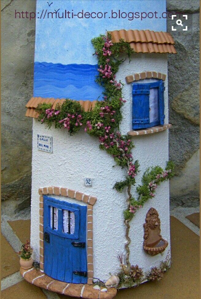 Teja fimo: fachada mediterranea