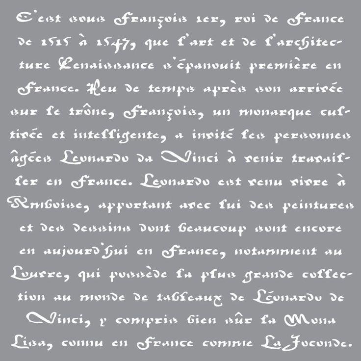 """Deco Art Americana Decor Stencil 12""""X12""""-Old French Script - old french script"""