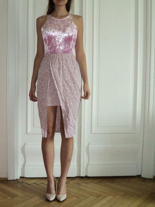 Nora Sarman  soft velvet body and silk taffeta skirt